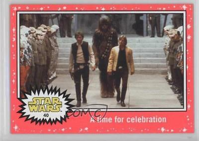 2015 Lightsaber Neon Starfield #40 A New Hope time for celebration Card 2k3