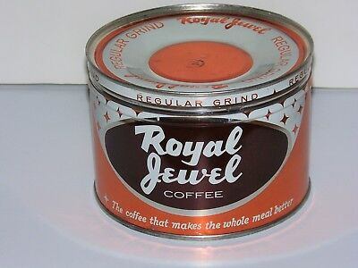 Advertising 1lb Royal Jewel Coffee Can Jewel Tea Company