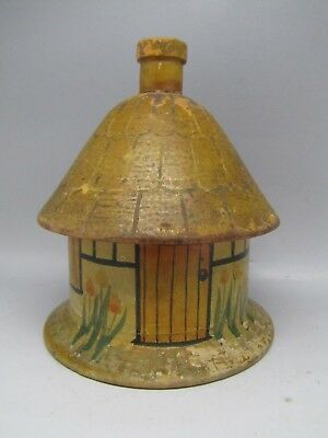 Antique Wooden String Box Twine Dispenser Yarn Sewing Shingle Cottage Folk Art