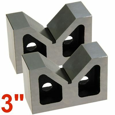 """3"""" V-Block Matched Pair Cast Steel Precision Ground 3"""" x 1-5/16"""" x 2-3/8"""""""