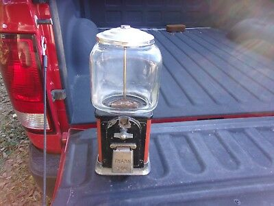 Vintage Victor 1 Cent Gumball Machine. Glass Globe Not Complete