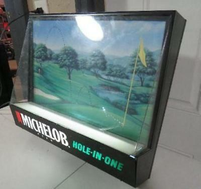 Vintage Michelob Hole In One Golf Lighted Sign light up bar motion