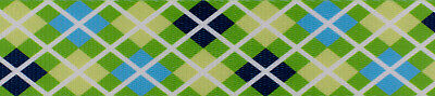 Country Brook Design® 1 Inch Margarita Argyle Polyester Webbing, 50 Yards