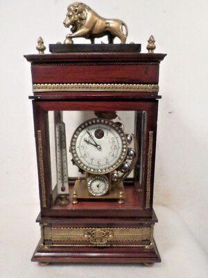 """Lion Top Ferris Wheel Clock--Weight Driven By 1"""" Ball Bearings--NO KEY REQUIRED"""