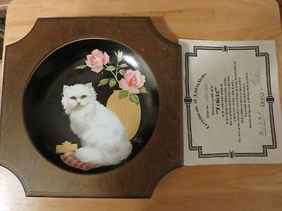 "The Sophisticated Ladies Collection plate by Aldo Fazio ""Felicia"" w/ COA & Frame"