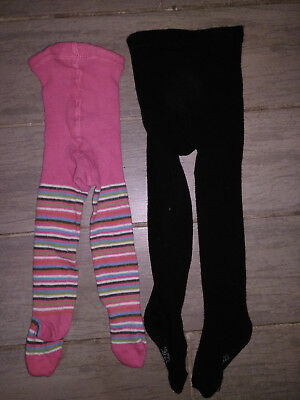 Lot 2 collants fille 12/24 mois taille 19/22