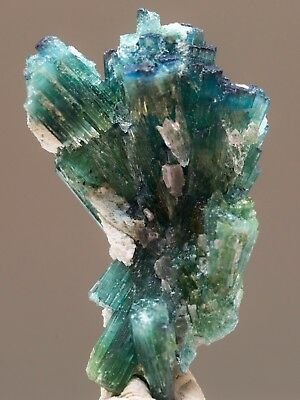 Rare ! Blue Green Tourmaline Crystals Specimen , 22.2 Carats ! From Afghanistan