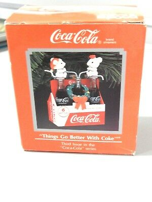 """Enesco Coca-Cola Collection """"Things Go Better With Coke"""" Ornament 1993"""