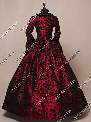 Renaissance Gothic Queen Victorian Christmas Party Dress Gown Theater 119 XL