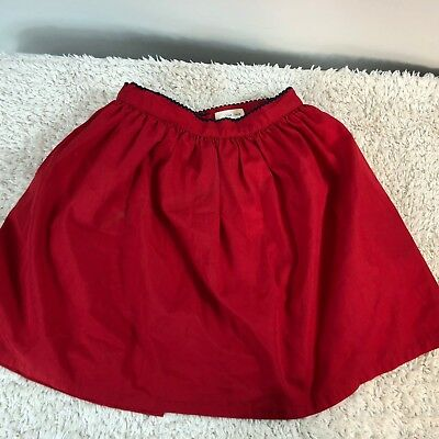 Olive Juice Girl's Skirt Size 5 Red Button Back Lined