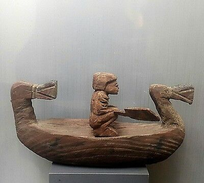Rare Antique Ancient Egyptian wood river boat (1500-1000 BC)