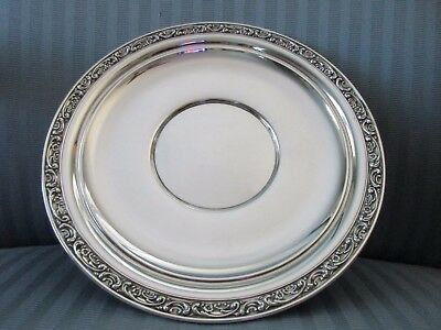 GORHAM 10 1/8 Serving PLATE Rose Scroll 1224 STERLING SILVER .925 NM Sandwich