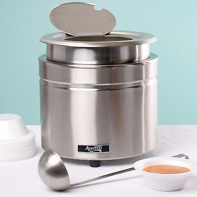 W800 11 Qt Commercial Stainless Steel Food Soup Sauce Cheese Kettle Warmer