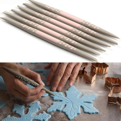 6PCS/Set Cake Soft Silicone Carving Pen Fondant Sugarcraft Cupcake Pastry Baking