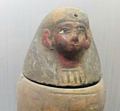 Rare  Antique Ancient Egyptian Canopic jar Imsety  (1500-1000 BC)