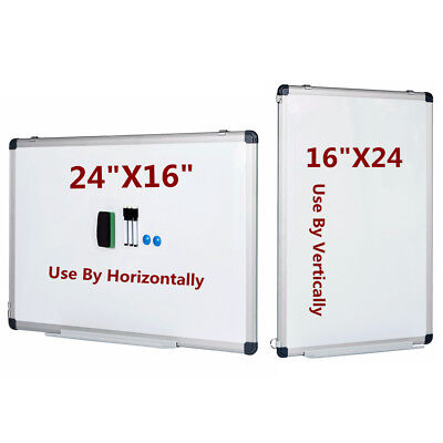 "Vertical Compatible Dry Erase Board Magnetic Markers Small Whiteboard 24"" x 16"""