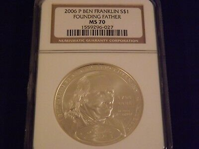 2006 -P  $1  Founding Father  Ben Franklin    NGC MS 70