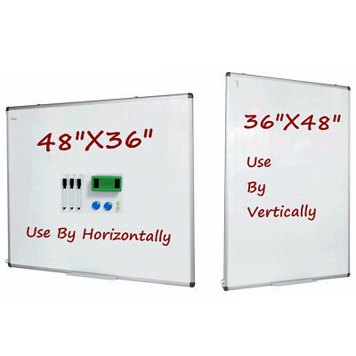 """Vertical Compatible Dry Erase Board Magnetic Markers Whiteboard 48""""x36"""" Large"""