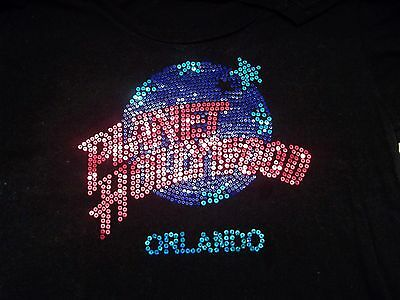 Planet Hollywood Orlando Ladies Shirt S Small with Bling