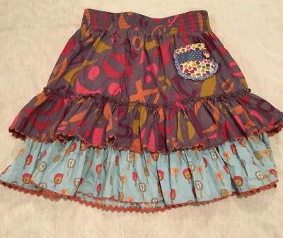 Matilda Jane Character Counts Size 12 Ruffle Tiered Skirt