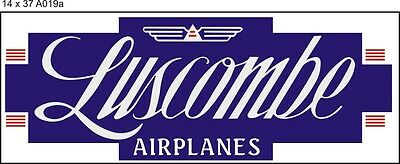 A019a Luscombe Airplane banner
