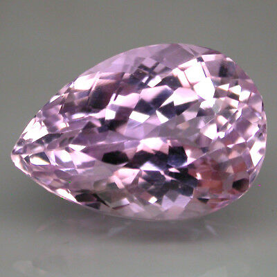 15.59 Ct. 18x12.5 Mm Pear Cut 100% Natural Top Purplish Pink Kunzite