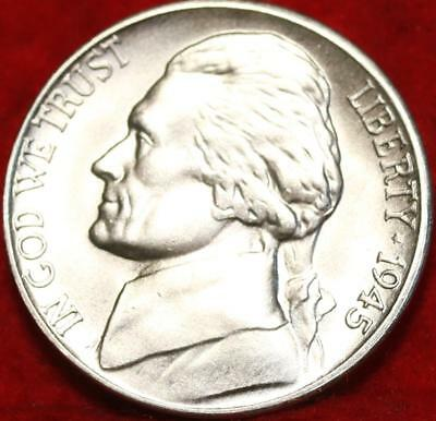 Uncirculated 1945-S San Francisco Mint Silver Jefferson Nickel Free Shipping