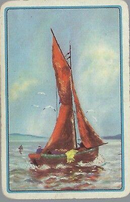 Swap Playing Vintage  Card  Yacht