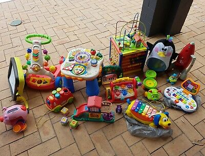 Bulk Lot Of Toys X 15 Educational Baby Kids Fisher Price Elc Trains Cars Music