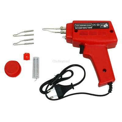 Pro Electrical Soldering Kit Set 230V 100W Gun Solder Stand Tool with Case Home