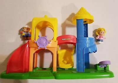 Fisher Price Little People Playground Playset and Two Little People Kids