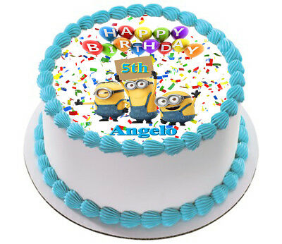 Despicable Me Minion Real Edible Icing Cake Topper Party Image Frosting Sheet