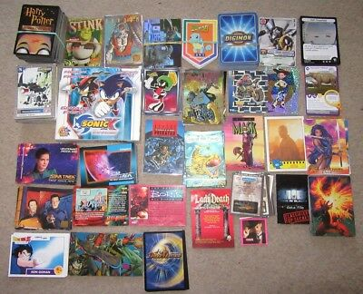 HUGE Lot of Assorted Non-Sport Trading Cards Digimon Star Trek Marvel + More