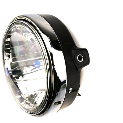 "8"" H4 Hernia Halogen Bulb Round Motorcycle Front Headlight 55w 12V ABS+Metal RS1"