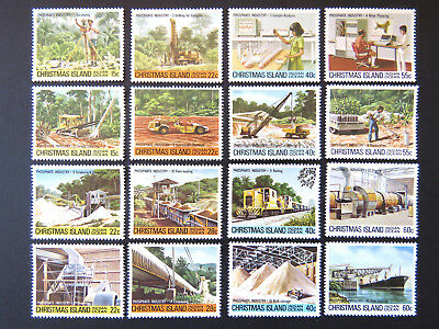 1980 Christmas Island Stamps - Phosphate Industry - Complete Set of 16 MNH