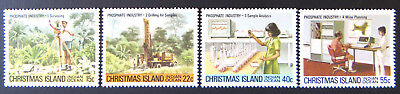 1980 Christmas Island Stamps - Phosphate Industry I - Set of 4 MNH