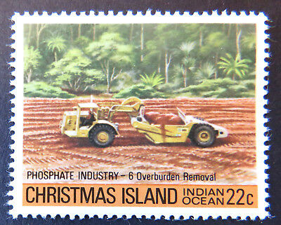 1980 Christmas Island Stamps - Phosphate Industry II - Single 22c MNH