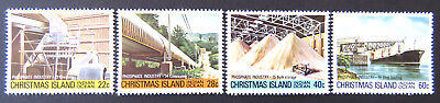 1980-1981 Christmas Island Stamps - Phosphate Industry IV - Set of 4 MNH