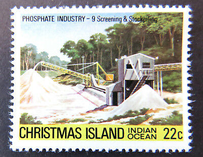 1980-1981 Christmas Island Stamps - Phosphate Industry III - 1x22c ScreeningMNH