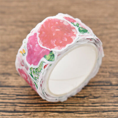 80x Flower Tape Sticker Stationery Adhesive Labels Cover Decor Garnation Bouquet
