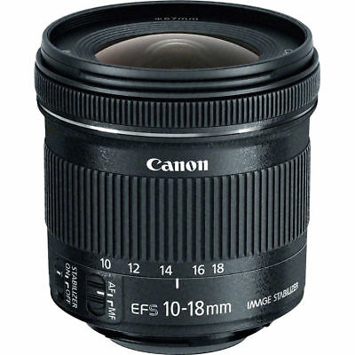 Canon EF-S 10-18mm f/4.5-5.6 IS STM Lens **GENUINE CANON WARRANTY**