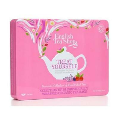 "English Tea Shop Organic Premium Collection Pink Tin ""36 Sachets"" Gift Pack"