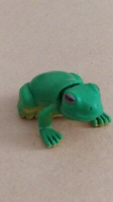 Cadbury YOWIES, Series 1  GREEN TREE FROG, toy collectible, NO info paper, 1997