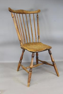 """Great 18Th C Connecticut """"tracy"""" School Windsor Fan Back Chair Great Bold Form"""