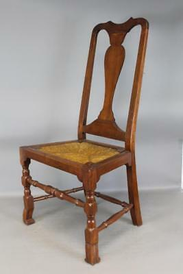 An Extremely Rare Early 18Th C New York Queen Anne Chair With Bold Spanish Feet