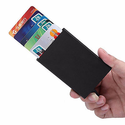 A+ Metal ID Credit Card Holder RFID Protector Aluminum Wallet Card Case New