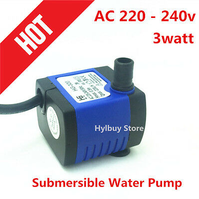 AC 220V 220L/H small Submersible Water Pump for Fountain Fish Aquarium US Plug