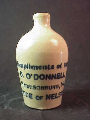 Compliments of D O'Donnell - Harrisonburg Virginia - Miniature Whiskey Jug