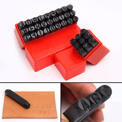 36pcs New Stamps Letters Alphabet Numbers Set Punch Steel Metal Tool Craft 4mm