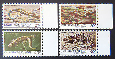1981 Christmas Island Stamps - Wildlife - Reptiles - Set of 4 - Tabs MNH